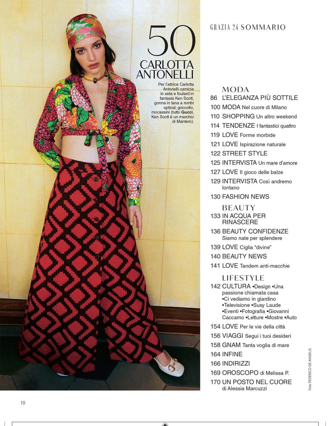 Grazia Italy Cover Story
